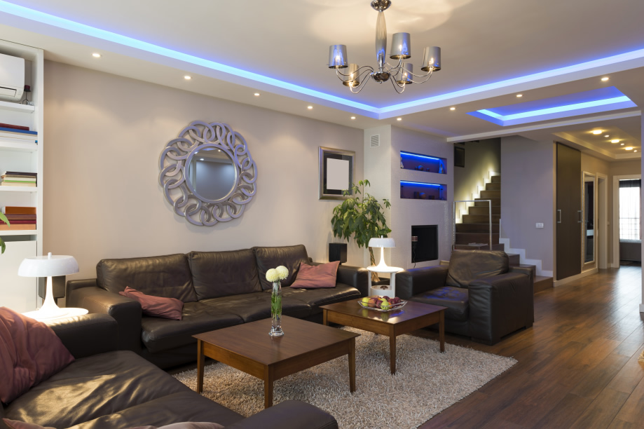 Living Room Renovation Image with Modern LED Lighting